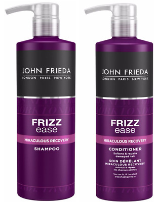 John Frieda Frizz Ease Miraculous Recovery Shampoo & Conditioner 2X 500ml NEW