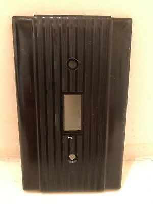 Vintage NOS Uniline Brown Bakelite Light Switch Cover - Mid Century, Art Deco