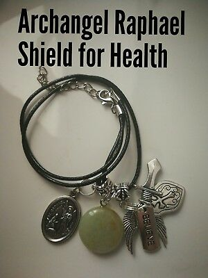 Code 389 Aventurine Archangel Raphael Infused Necklace Shield for Health Wrap up