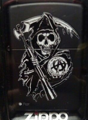 Authentic Zippo Sons of Anarchy Black Matte Lighter