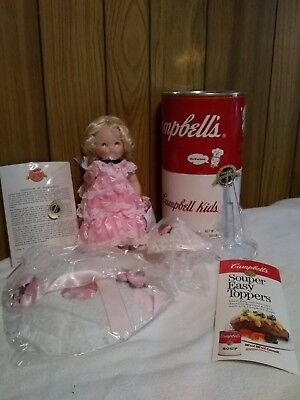 """1994 Campbell Soup Kids Porcelain Doll """"Southern Belle"""" New With Box - COA"""