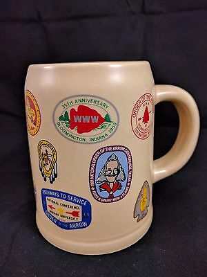 Vintage Coffee Mug  BSA Order of the Arrow National Conference w/Patches1948-83