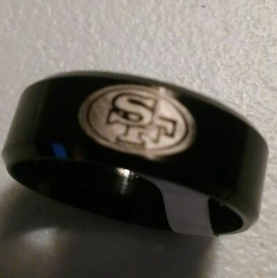 San Francisco 49ers Team Titanium Ring, several styles, **Free Gift**