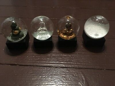 Set Of 4 - Zen Mini Set Snow Globes By CoolSnowGlobes Original Brand New Buddha