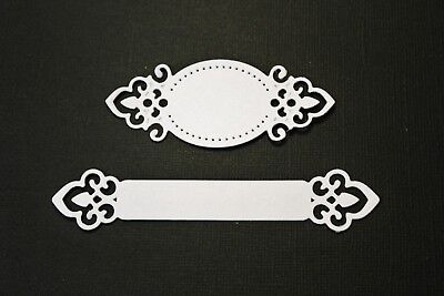 10 x White Tags Labels Die Cuts Great For Card Making & Scrapbooking