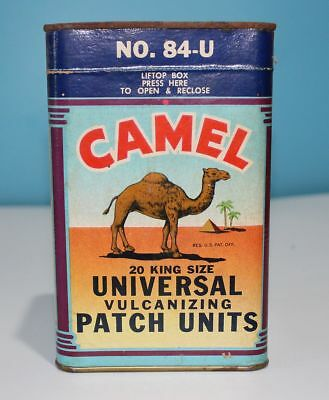 1946 Camel Tire Tube Vulcanizing Patch Units- 1 Box With 20 Patches - Large