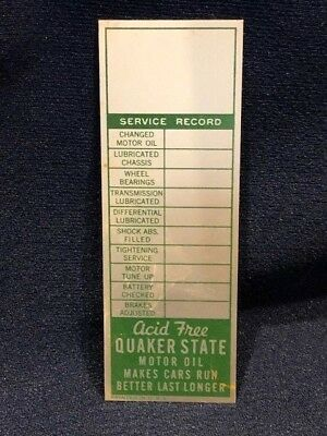 Vintage Quaker State Motor Oil Service Miniature Advertising Aluminum Sign Plate