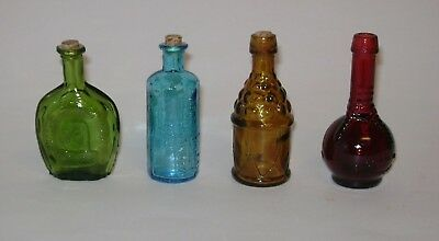 Lot Of Mini Bitters Bottles Red Ball And Claw George Washington Blue Lancaster's