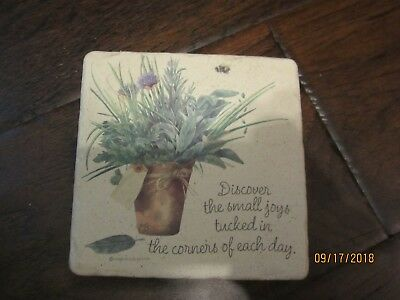 marjolein bastin 3 X 3 ceramic  tile with hook for hanging