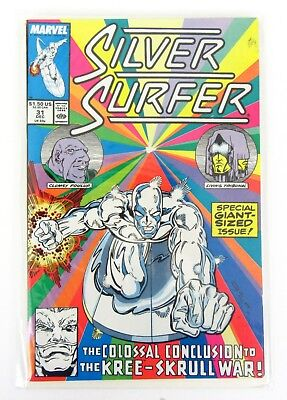 Silver Surfer #31 Dec 1989 Marvel Comic Colossal Conclusion Kree-Skrull War