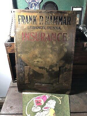 Origainal Old Brass Insurance Trade Sign Bell Telephone