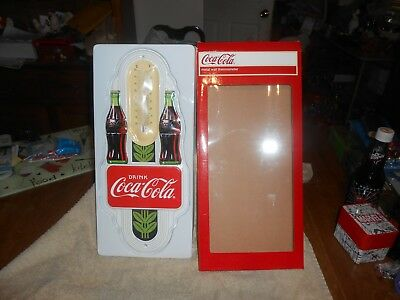 "Coca-Cola Item 1 Metal Wall Thermometer, New in Box, 16"" long & 7"" wide"