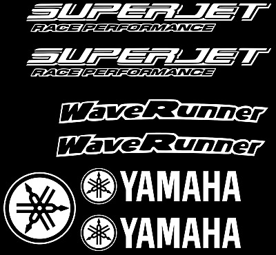 Superjet Graphics Kit WHITE Decal Sticker Wrap Yamaha Super jet stickers decals