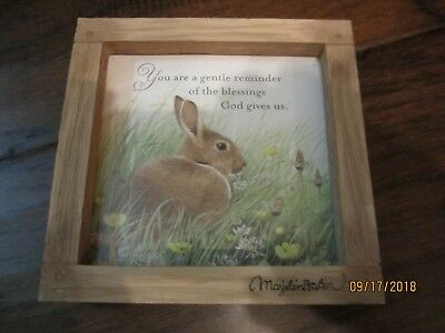 marjolein bastin (2) small frames, green with watering can and brown with rabbit
