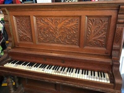 Albrecht & Company Hand Carved Antique Piano