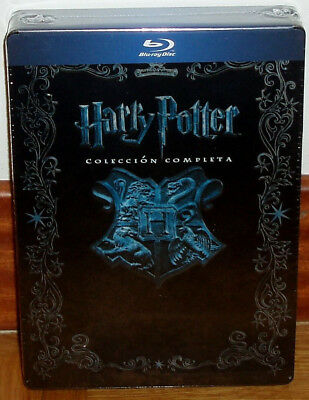 Harry Potter Collection Complete 1-8 Blu-Ray Box Metal Jumbo New Sealed