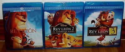 The Lion King The Trilogy 3 Blu-Ray+1 Dvd Disney Sealed New (Unopened) R2