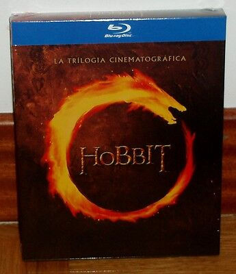The Hobbit The Trilogy Cinematografica 6 Blu-Ray Sealed New (Unopened) R2