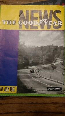 vintage the Goodyear news Goodyear Tire Magazine 1951
