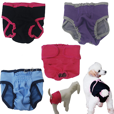 Cute Large Puppy Dog Cloth Diapers Female Washable Boston Terrier Pitbull Blue