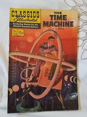 The Time Machine: CLASSICS ILLUSTRATED #133 HRN 142 (2nd print) Fine+