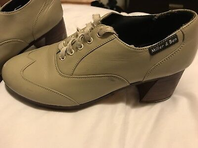 Miller And Ben Tap Shoes Rhythm Heels Pro Size 39