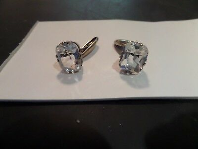 Russian solid Silver cufflinks 875 - Gilded (ROCK CRYSTAL).