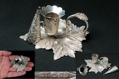 V.RARE 1831 late Georgian William IV English sterling miniature CHAMBERSTICK