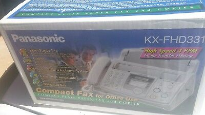 NEW in BOX PANASONIC KX-FHD331 COMPACT PLAIN PAPER FAX & COPIER great for office
