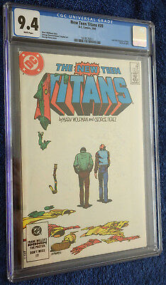 The New Teen Titans #39 CGC 9.4 White Pages - Perez! Last Dick Grayson as Robin!