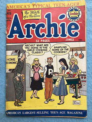 ARCHIE Comics No. 45 July - August 1950 Bob Montana Art