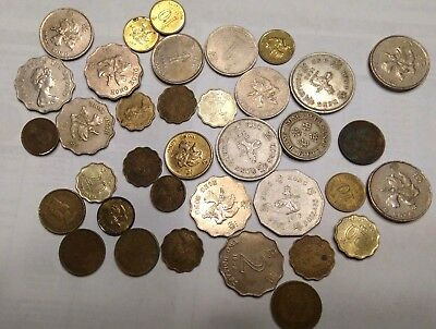 lot of HONG KONG COINS RANGING FROM 50'S - 90'S SILVER STEEL ALUM BRONZE COPPER?