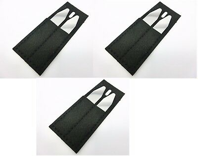 """6 Metal Collar Stays For Men Shirts in 3 Black Pouches 2.2"""" 2.5"""" 3"""""""