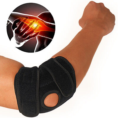 Tennis Golfer's Elbow Brace Pain Relief Wrap Compression Pad Arm Support Sports