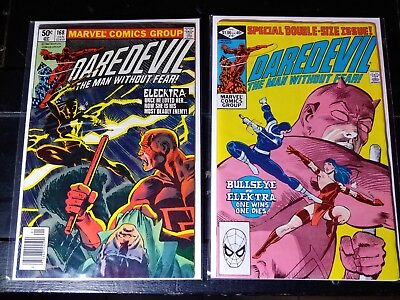 Daredevil 168 newsstand and 181 - First App And Death Of Elektra(Higher Grades)