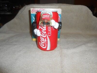 Vintage Coca-Cola Soda Pop Coke Can Robot Mechanical Action Bank, Unused w/ Box