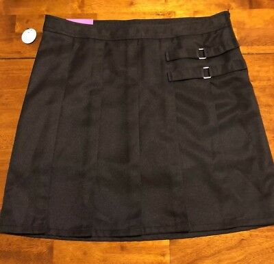 "Girls ""French Toast"" School Uniform Pleated Skort/Scooter, Size 18, Black *NEW*"