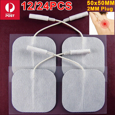 24x Tens Machine Massagers Replacement Electrode Pads Gel Self Adhesive Reusable