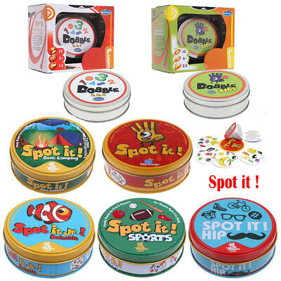 Spot It Board Game Cards Animals/Hip Hop/Numbers/Classic Kids Family Party Game