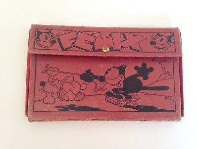 Vintage Antique Felix The Cat Red Pencil Case  1934 Good Condition