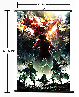 HOT Anime Attack on Titan Wall season 2 Poster Scroll Home Decor Cosplay 2503