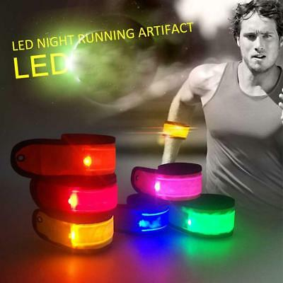 1x LED Safety Night Reflective Belt Strap Arm Band Bright Glow Wrist Arm Ankle