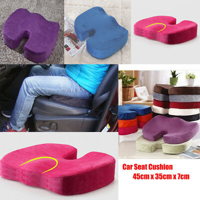 Car Seat Cushion Protector Sit Cover Mat Pad Protect Lower Back Spinal 45x35x7cm