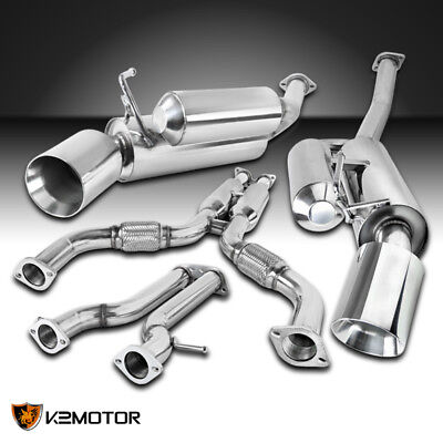 For 2009-2018 Nissan 370Z Fairlady Z Dual Catback Exhaust System Stainless Steel