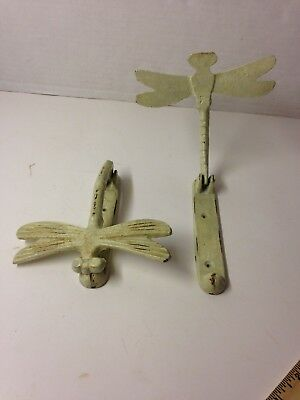 Lot of 2 Vintage Cast Iron Dragonfly Door Knockers.