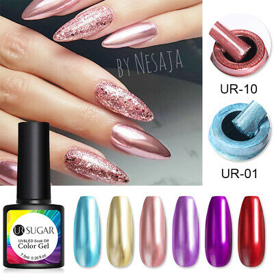 Serie Colore Specchio Smalto Gel UV LED Nail Polish Manicure Semipermanente DIY