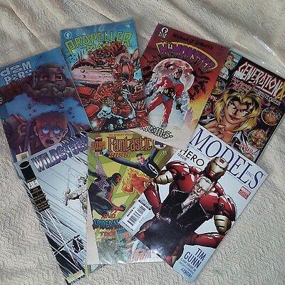 Comic Book Lot! 1988, 90s, 2009 Special Ed. GREAT Retro Ads! Comic Art Examples
