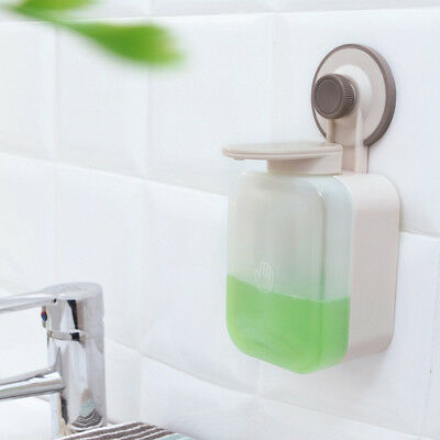 Suction Cup Wall Mounted Liquid Soap Dispenser Bathroom Shampoo Container