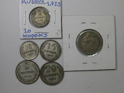 LOT OF 6 USSR COINS Priced To Sell