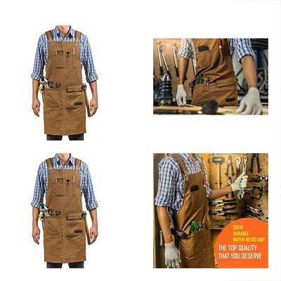 Luxury Waxed Canvas Shop Apron Heavy Duty Work For Men & Women With Pocket Tool